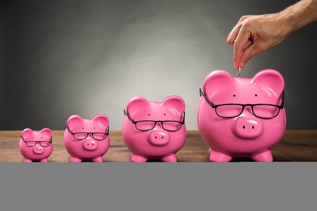 Piggybank and glasses